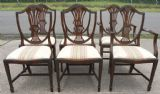 Set of Six Mahogany Shield Back Georgian Style Dining Chairs